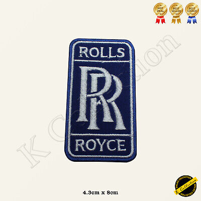 Rolls Royce Car Brand Logo Racing Sponsor Embroidered Iron On/Sew On Patch Badge
