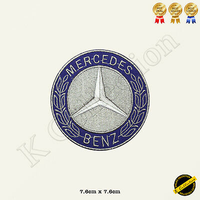 Mercedes Benz Brand Logo Racing Sponsor Embroidered Iron On/Sew On Patch Badge