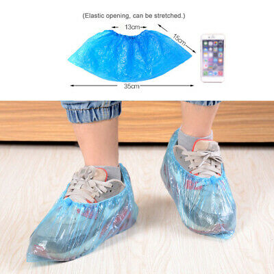 100pcs Disposable Shoes Protector Rainy Day Cleaning Overshoes Cover Accessories