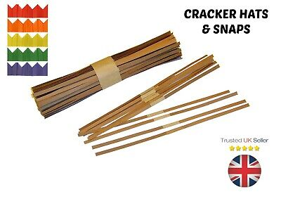 Christmas Cracker SNAPS & HATS Pulls Bangs Make / Build Your Own Xmas Party Snap