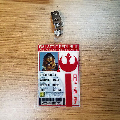 Star Wars Id Badge-Galactic Republic Chewy Chwbacca Wookie prop cosplay costume