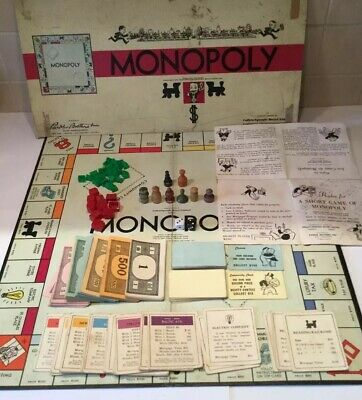 Vintage MONOPOLY American USA Canada Version Board Game Retro Parker Brothers SP