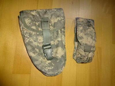 US ARMY 2x MOLLE II ENTRENCHING TOOL POUCH MAGAZINE CLIP TASCHE ACU UCP FLC USA