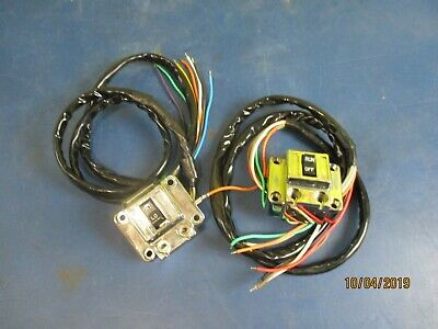 """Chrome Switch Housings W/ Switches & 40"""" Harness Harley Davidson 1972-1981"""