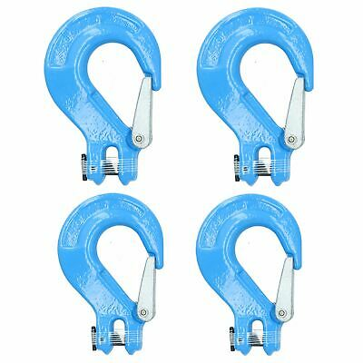 Clevis Sling Hook Safety Catch Max Lifting Capacity 2 Ton For 8mm Chain 4pk