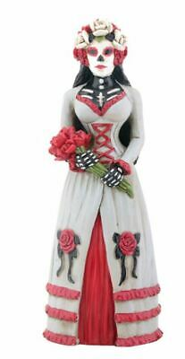 Wedding Gothic Skeleton Bride Day of the Dead Dia de Los Muertos Figurine