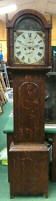Jos Sessford Newcastle 19th Century Grandfather Clock For Restoration 8 Day