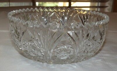 """Crystal Glass candy dish Potpourri candy dish Compote clear 8"""" stars"""