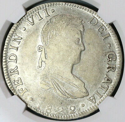 1822-Go NGC VF 30 War Independence Guanajuato 8 Reales Mexico Coin (19100403C)