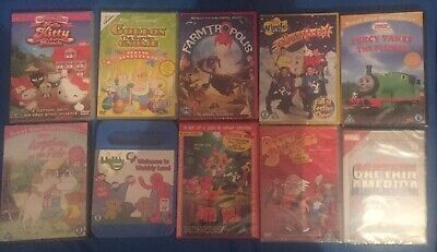 Set Of 10 Childrens Dvds Brand New And Factory Sealed Free Post Fast Dispatch
