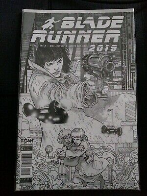 Blade Runner 2019 #1 NYCC 2019 retailer exclusive black white sketch variant