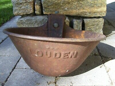 Antique Vintage Cast Iron LOUDEN Cow Waterer Farm & Barn Cow Water Bowl