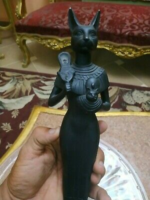 Antique Queen of ancient Egypt Pharaoh Bastet goddess of fertility, music