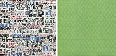 25 sheets Scrapbook Paper LET IT RIDE LAS VEGAS Reminisce RSS085 double sided