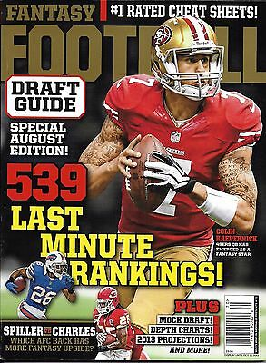 Fantasy Football magazine Draft guide special Rankings Mock draft Depth charts