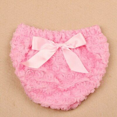 Newborn Bow Ruffle Cotton Baby Girl Bloomers Diaper Cover Tutu Ruffled Panties