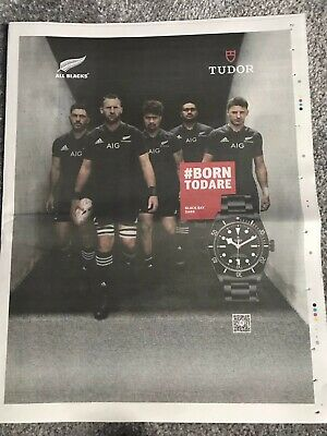**New Zealand Rugby All Blacks World Cup 2019 Full Page Newspaper Promo Page**
