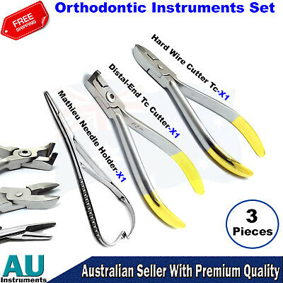 Dental Orthodontic Hard Wire And Distal End TC Cutters Mathieu Needle Holders CE
