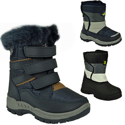 **Kids Boys Girls Winter Snow Moon Mucker Waterproof Wellies Boots Shoe New Boot