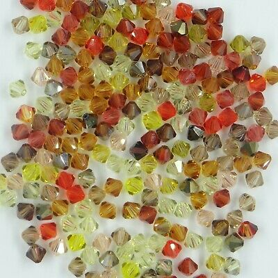 T5 MIX M *** Lot de 60 toupies cristal Swarovski 5 mm MIX camaïeu couleurs