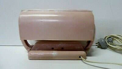 Vintage Art Deco Pink White Mottled Bakelite Clip On Bedhead Table Lamp