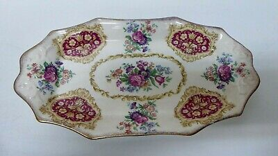 James Kent Empress #3008 Floral Roses Plate  Sandwich Cake Serving Tray
