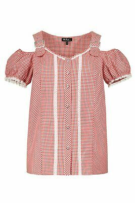 Ulla Popken Trägerbluse with Toolbox Red New