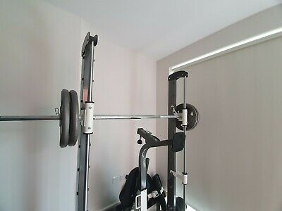Tunturi Pure Compact Smith Machine Adjustable Weight Bench With Folding Design