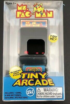 NEW SEALED Tiny Arcade Ms. Pac-Man Miniature Arcade Game. World's Smallest!