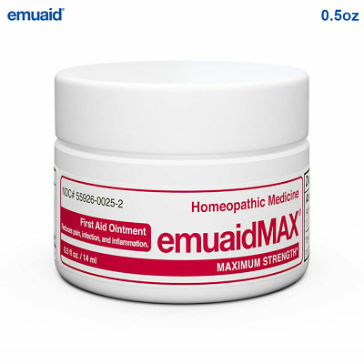 Emuaid MAX First Aid Ointment 0.5oz - Eczema Acne Dermatitis Psoriasis & More