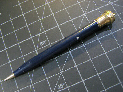vtg Wahl Eversharp Mechanical Pencil BLUE ENAMEL Gold Fld Cap Working RING TOP