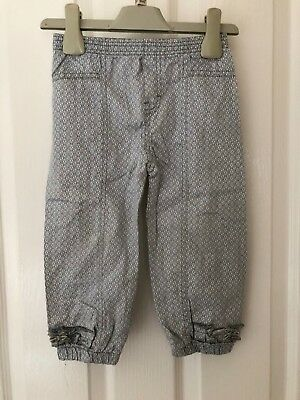 Gymp Girls Grey & White Heart Deisign Cotton Trousers - 2 Yrs 92Cm