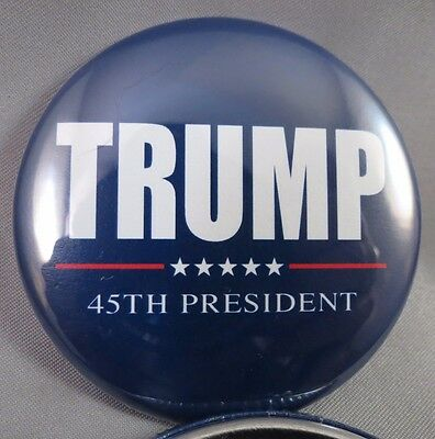 WHOLESALE LOT OF 12  DONALD TRUMP 45TH PRESIDENT  BUTTONS 45 Blue Red White 2020