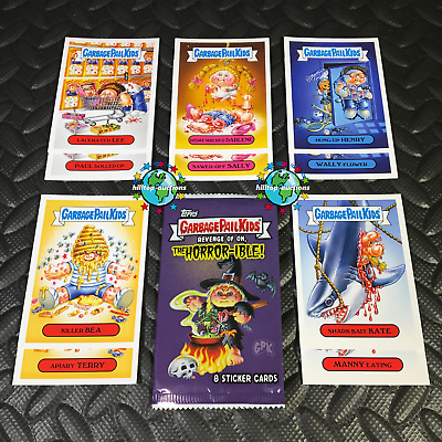 Garbage Pail Kids Revenge Of Oh, The Horror-Ible 2019 Horror Victims Set+Wrapper