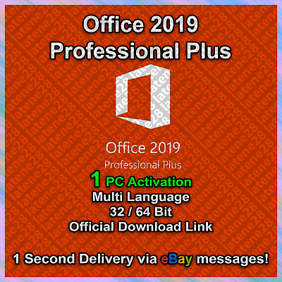 Microsoft Office 2019 Pro Professional Plus Genuine License Key 1s Delivery 1PC