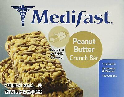 Medifast Peanut Butter Crunch Bars (1 Box/7 Servings)