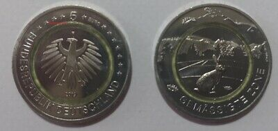 #RM# 5 EURO COMMEMORATIVE GERMANY 2019 - Letter F - MODERATE ZONE