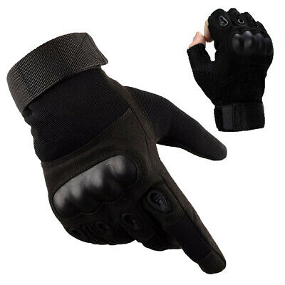 Tactical Hard Knuckle Full Finger Gloves Army Military Combat Hunting Shooting