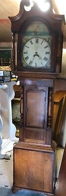 19th Century Oak Grandfather Clock For Restoration 30  Barton
