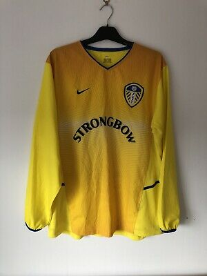Leeds United Away Football Shirt 2000/02 00 01 02 Large L LS Long Sleeve