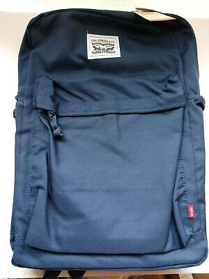 Levi's L Pack Backpack With Laptop Sleeve Fits 15.6 Inch Screen Blue