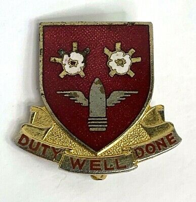 Vintage US Army 203rd Air Defense Artillery Regiment DUI Pin - Pin Back