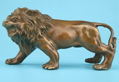 Unique China Bronze Statue Animal Lion King Handicraft Old Home Decoration Gift