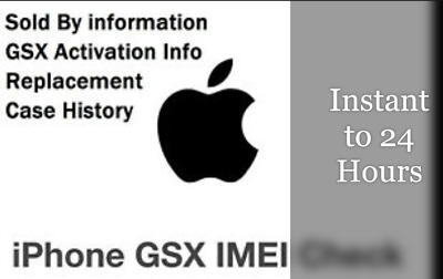 Sold By Info, Replacement Apple Devices + Case History. Check by IMEI/SN,INSTANT