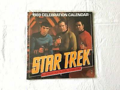 Vintage Star Trek Calenders 1986 1984 1989 Used Great Condition