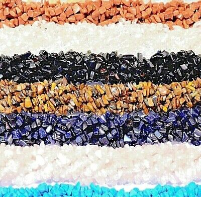 """Natural Gemstone Chip Beads for Jewellery Making on 35"""" 5-8mm"""