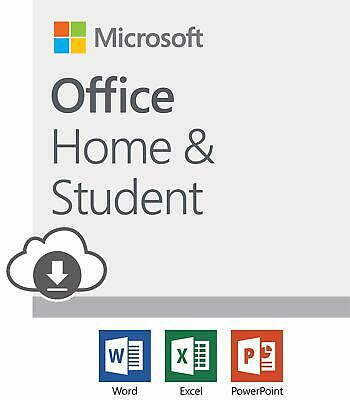 Microsoft Office Home and Student 2019 Download 1 Person Compatible on Windows