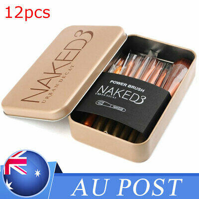 12pcs KABUKI PROFESSIONAL Make up Brushes Set Powder Foundation Blusher + Case
