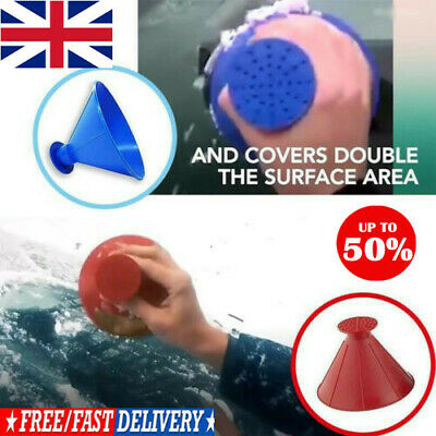 Amazing Car Windshield Ice Snow Remover Scraper Tool Cone Shaped Funnel UK BEST