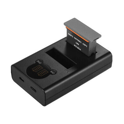 Dual Channel Charger Camera Battery Charging Kit for DJI OSMO Action Camera F7R8